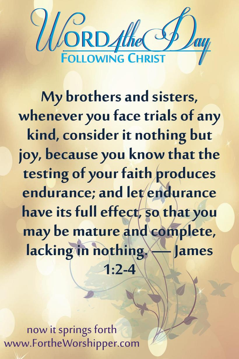 James 1 2-4 Consider it joy