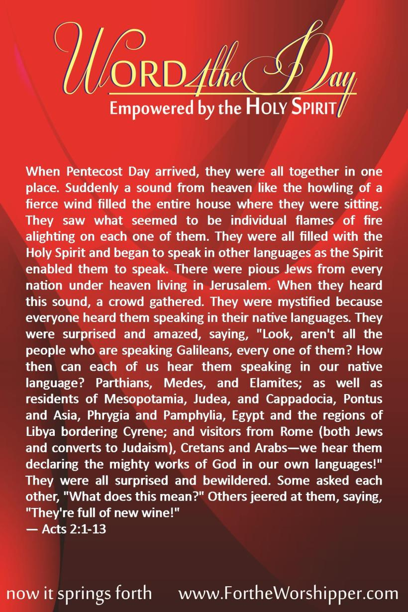06 08 2014 Acts 2 1-13 Be Filled with the Holy Spirit