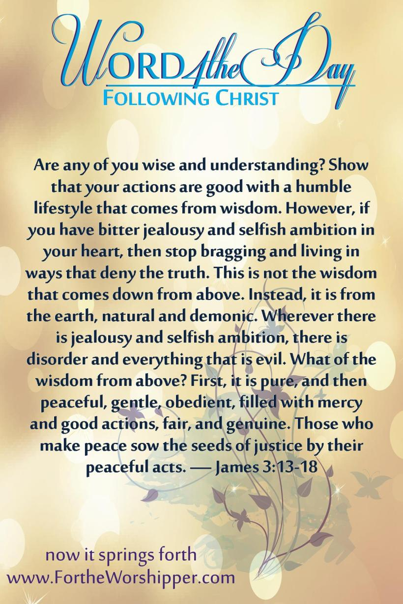 James 3 13-18 Seek wisdom from above