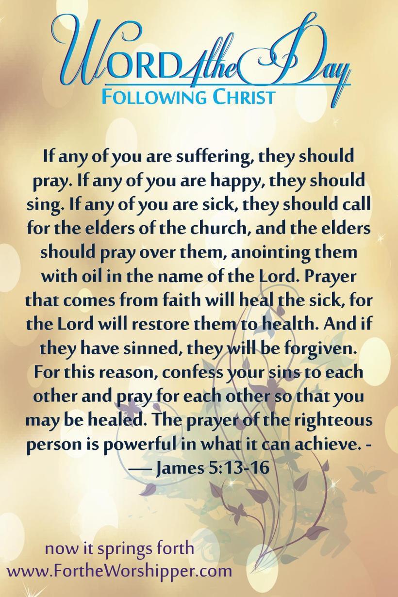 James 5 13-16 Pray