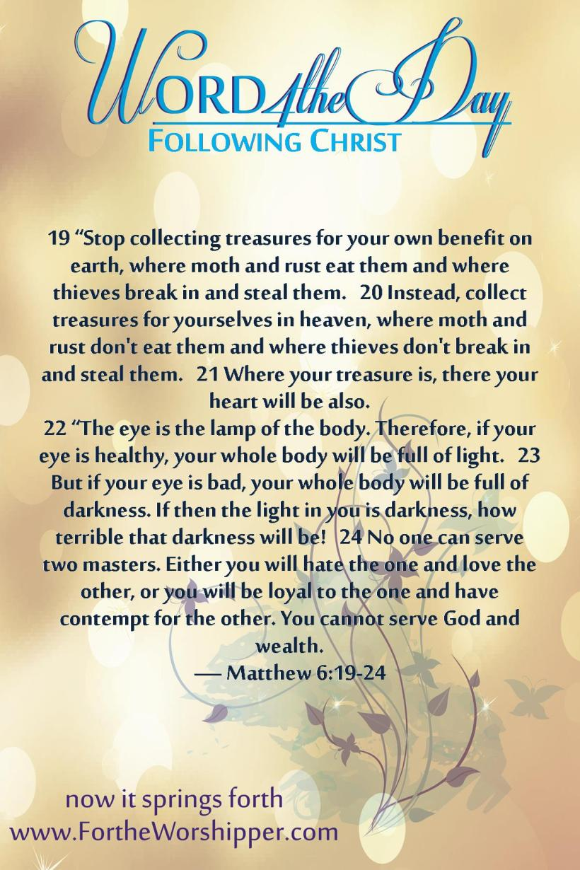 Matthew 6 19-24 06_03_14 Serve God