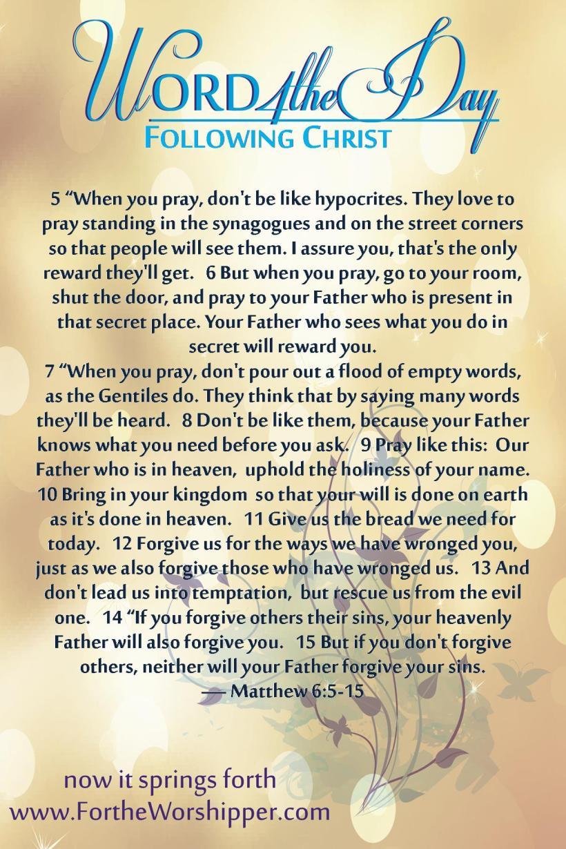 Matthew 6 5-15 06_01_14 Pray