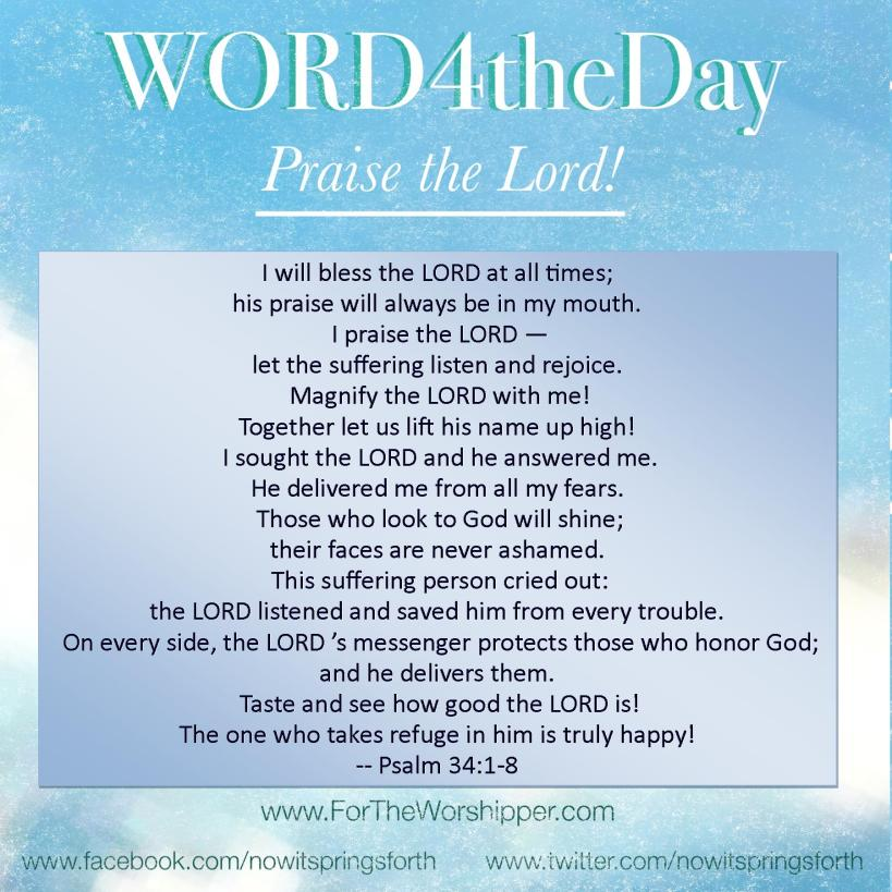 06 29 14 Psalm 34 1-8 Bless the Lord at all times