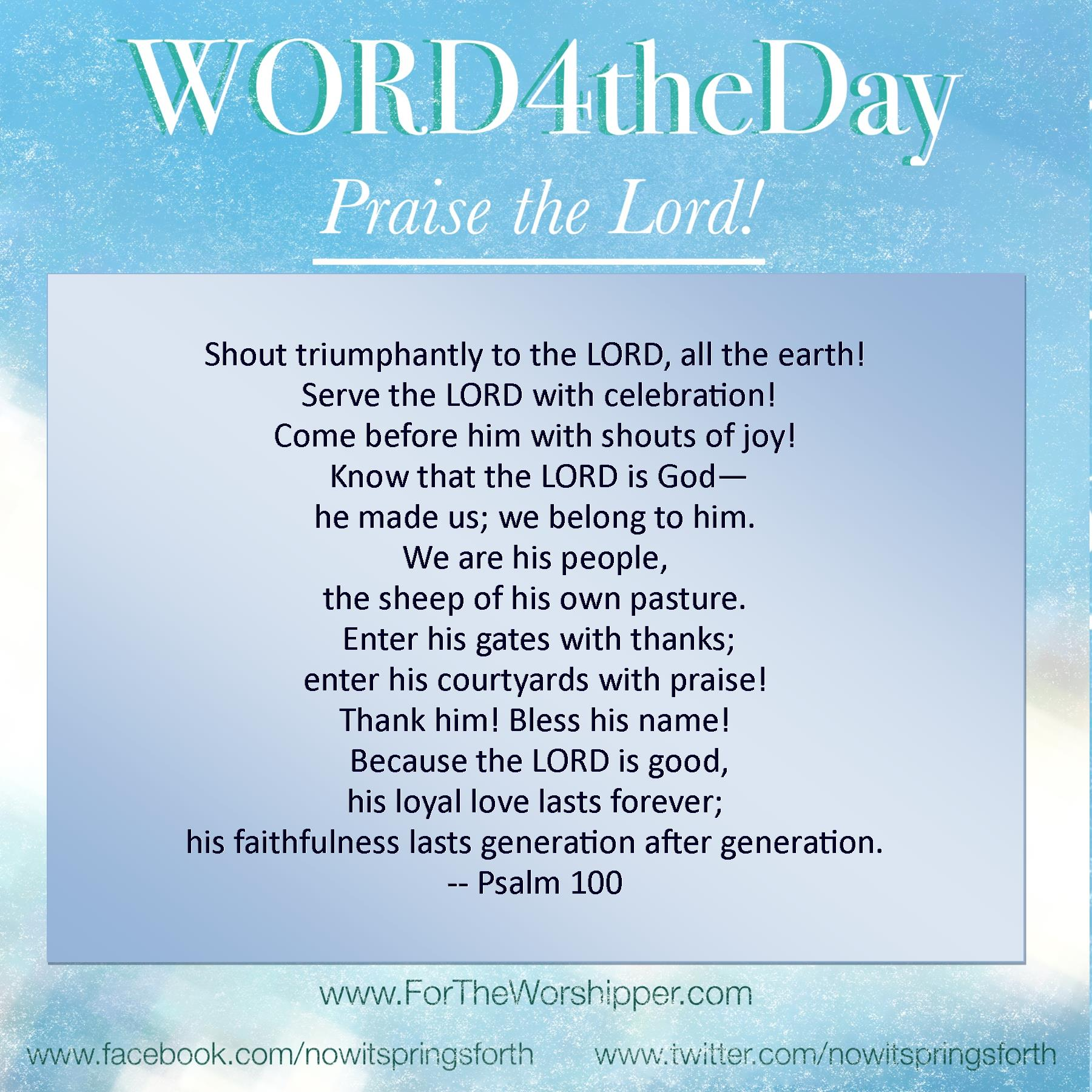 WORD4theDay 07 06 14 – For the Worshipper