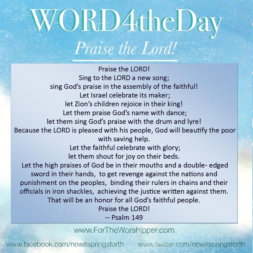 07 12 14 Psalm 149 Celebrate with glory