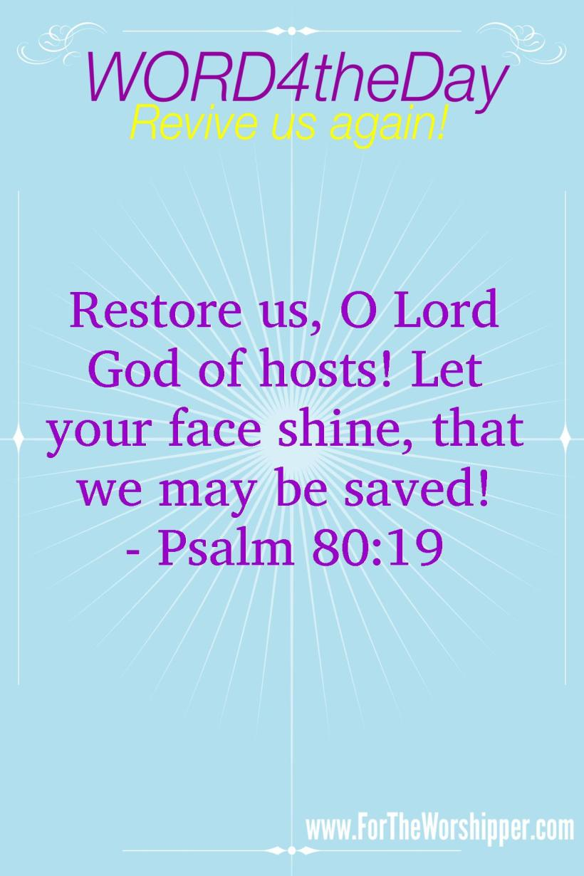 07 14 14 Psalm 80 19 Be Restored