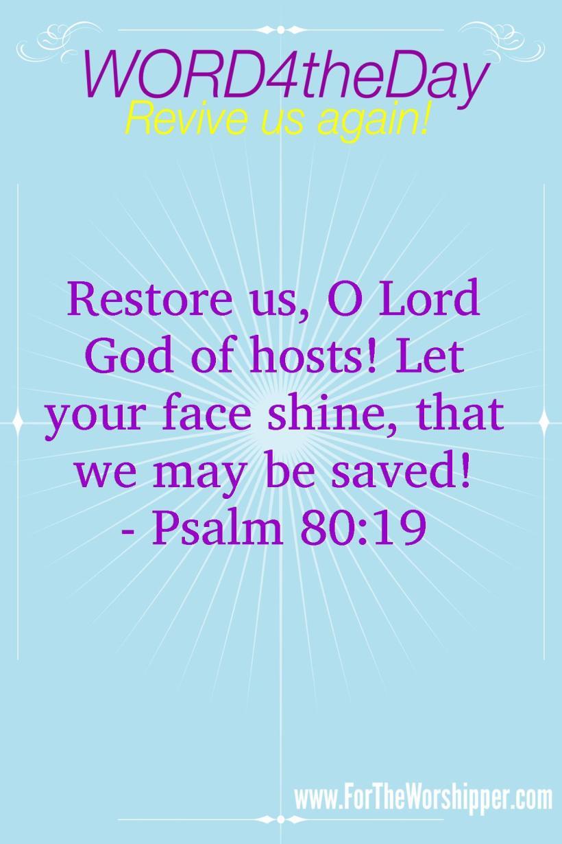 07 14 14 Psalm 80 19 Be Restored