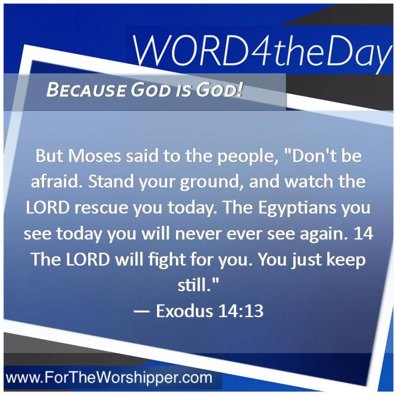 08 06 14 Exodus 14 13 Watch the Lord handle it