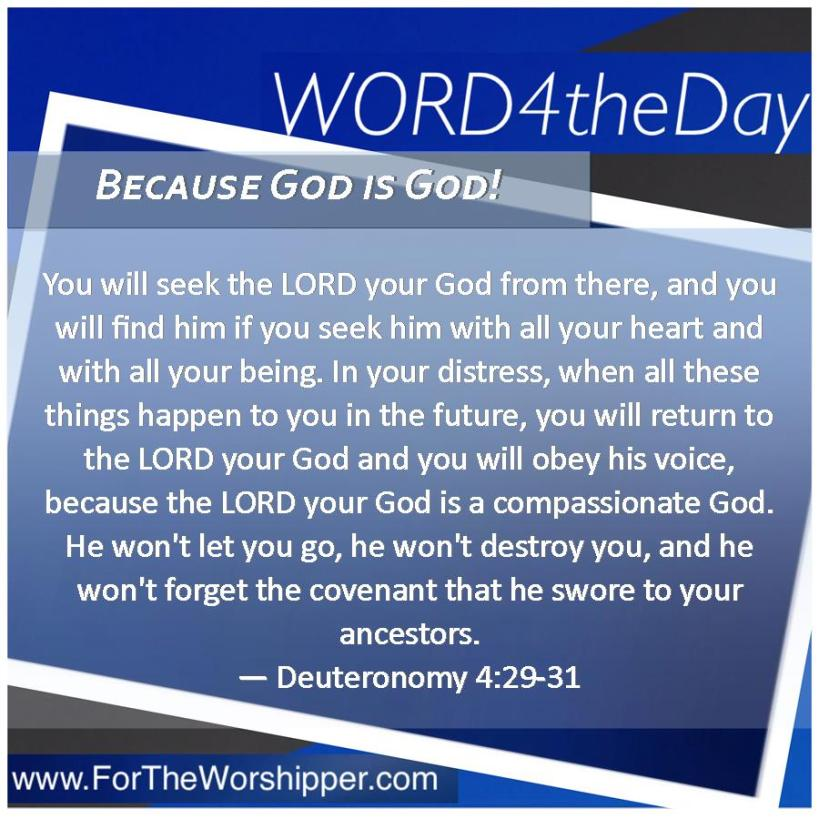 08 14 14 Deut 4 29-31 The Lord is compassionate