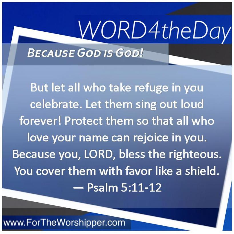 08 23 14 Psalm 5 11-12 The Lord covers you