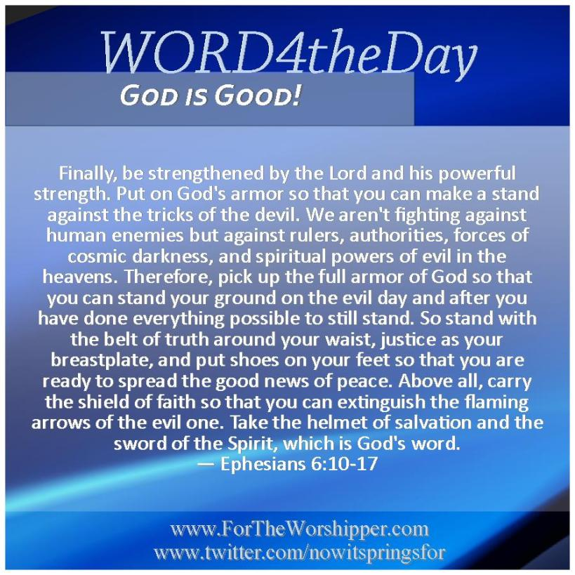 09 09 14 Ephesians 6 10-17 God arms you for battle