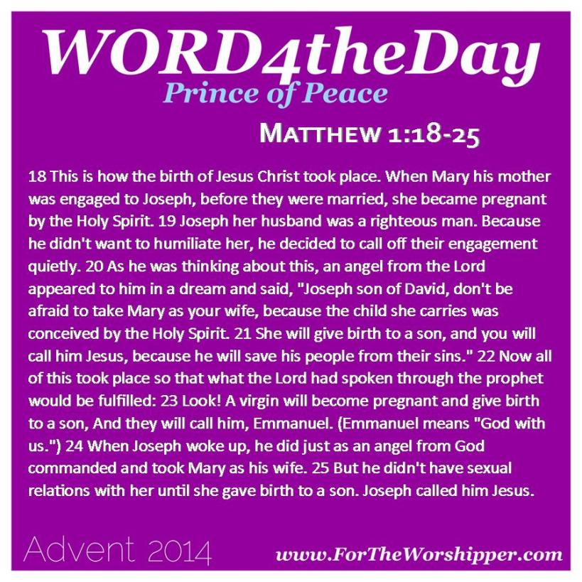 12.22.14 Matthew 1 18-25 The Lord is with you