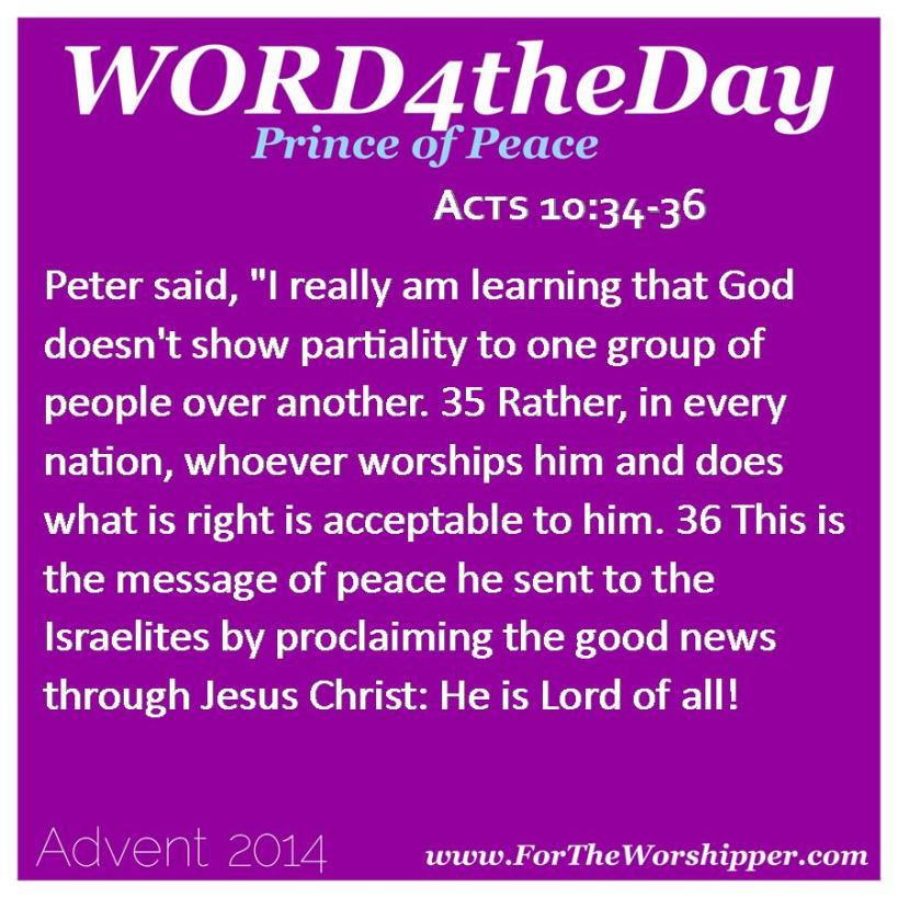 12.23.14 Acts 10 34-36 Jesus Christ is Lord